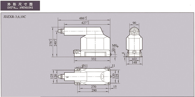 JDZXR-3C,6C,10C VOLTAGE TRANSFORMERInstrument Transformer-Huaxin